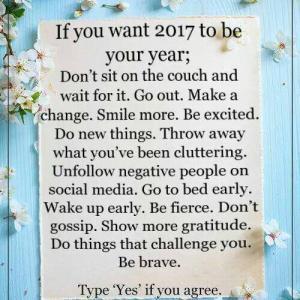 Wat wordt het: Happy new year? Of Happy new YOU?